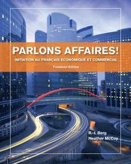 Parlons affaires! 3rd Edition 9781133311256 1133311253