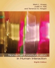 Nonverbal Communication in Human Interaction 8th Edition 9781285499840 1285499840