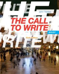 The Call to Write, Brief 6th edition 9781133311157 1133311156