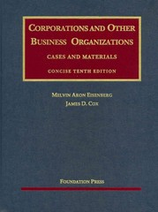 Corporations and Other Business Organizations 10th edition 9781599414638 1599414635