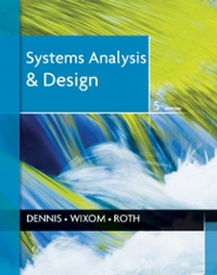 Systems Analysis and Design 5th Edition 9781118057629 1118057627