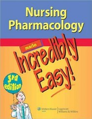 Nursing Pharmacology Made Incredibly Easy 3rd Edition 9781451146240 1451146248