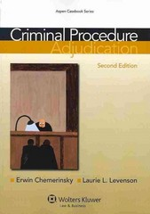 Criminal Procedure 2nd Edition 9781454807124 1454807121