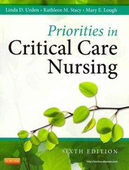 Priorities in Critical Care Nursing 6th Edition 9780323074612 0323074618