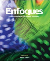 Enfoques with Supersite Code + Student Activities Manual 3rd edition 9781617670213 1617670219