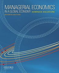 Managerial Economics in a Global Economy 7th edition 9780199811786 0199811784