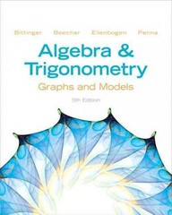 Algebra and Trigonometry 5th Edition 9780321783974 0321783972