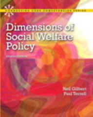 Dimensions of Social Welfare Policy 8th Edition 9780205096893 0205096891