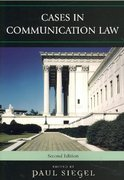 Cases in Communication Law 2nd Edition 9780742555853 0742555852