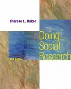 Doing Social Research 3rd Edition 9780070060029 0070060029