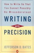 Writing with Precision 1st Edition 9780140288537 0140288538