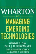 Wharton on Managing Emerging Technologies 1st Edition 9780471689393 0471689394