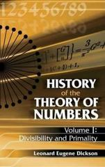 History of the Theory of Numbers 0 9780486442327 0486442322