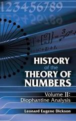 History of the Theory of Numbers - Diophantine Analysis 0 9780486442334 0486442330