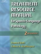 Treatment Resource Manual for Speech-Language Pathology 2nd edition 9780769300184 0769300189