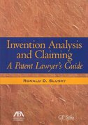 Invention Analysis and Claiming 0 9781590318188 1590318188
