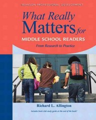 What Really Matters for Middle School Readers 1st Edition 9780205393190 0205393195