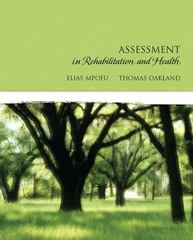 Assessment in Rehabilitation and Health 1st Edition 9780205501748 0205501745