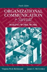 Organizational Communication for Survival 4th edition 9780205535057 0205535054