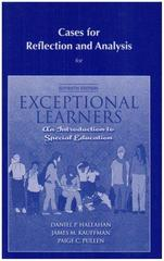 Cases for Reflection and Analysis for Exceptional Learners 11th edition 9780205609659 0205609651