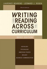 Writing and Reading Across the Curriculum, Brief Edition 3rd edition 9780205622290 0205622291