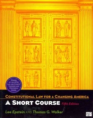 Constitutional Law for a Changing America 5th Edition 9781608716975 160871697X