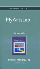 NEW MyArtsLab -- Standalone Access Card -- for Prebles' Artforms 10th edition 9780205227747 0205227740