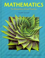Mathematics for Elementary School Teachers with Activities 4th edition 9780321581105 0321581105
