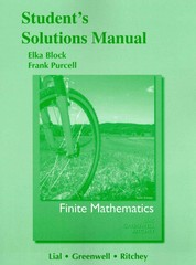 Student Solutions Manual for Finite Mathematics 10th edition 9780321748676 0321748670
