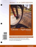 Books a la Carte Edition, Calculus with Applications, Brief Version