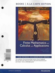 Finite Mathematics and Calculus with Applications, Books a la Carte Edition 9th edition 9780321746603 0321746600