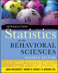 Introductory Statistics for the Behavioral Sciences 7th Edition 9781118149713 1118149718