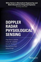 Doppler Radar Physiological Sensing 1st Edition 9781118024027 1118024028