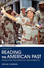 Reading the American Past 5th Edition 9780312563776 0312563779