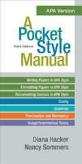 A Pocket Style Manual, APA Version 6th edition 9781457639135 1457639130
