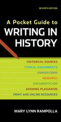 A Pocket Guide to Writing in History 7th edition 9780312610418 0312610416