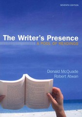 The Writer's Presence 7th Edition 9780312672621 0312672624
