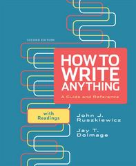 How to Write Anything 2nd Edition 9780312674892 0312674899
