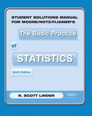 Student Solutions Manual for Moore/Notz/Fligner's the Basic Practice of Statistics 6th edition 9781429280006 142928000X