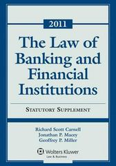 Law of Banking and Financial Institutions 1st Edition 9781454808275 1454808276