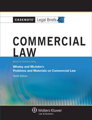 Commercial Law 10th Edition 9781454808008 1454808004