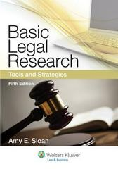 Basic Legal Research 5th Edition 9781454808473 1454808470
