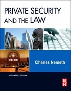 Private Security and the Law 4th Edition 9780123869227 0123869226