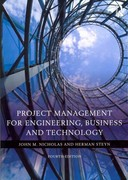 Project Management for Engineering, Business and Technology 4th edition 9780080967042 0080967043