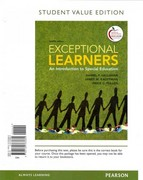 Exceptional Learners: An Introduction to Special Education, Student Value Edition 12th edition 9780132763660 0132763664