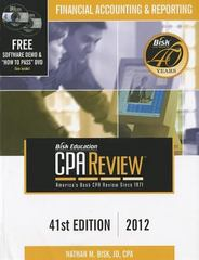 Bisk Comprehensive CPA Review: Financial Accounting and Reporting 41st edition 9781579618759 1579618758