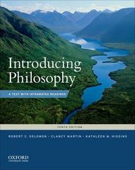 Introducing Philosophy 10th Edition 9780199764860 0199764867