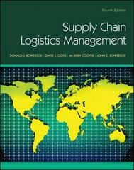 Supply Chain Logistics Management 4th Edition 9780078024054 0078024056