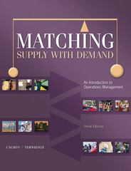 Matching Supply with Demand 3rd Edition 9780073525204 0073525200