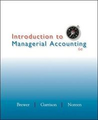 Introduction to Managerial Accounting 6th edition 9780078025419 0078025419